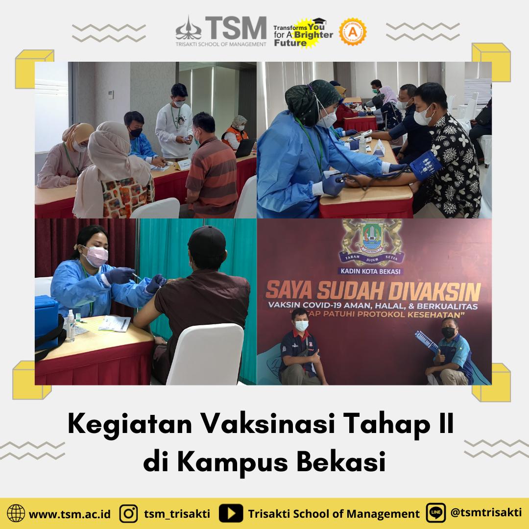 Vaksinasi Covid-19 Bersama Tahap kedua  di kampus TSM Bekasi